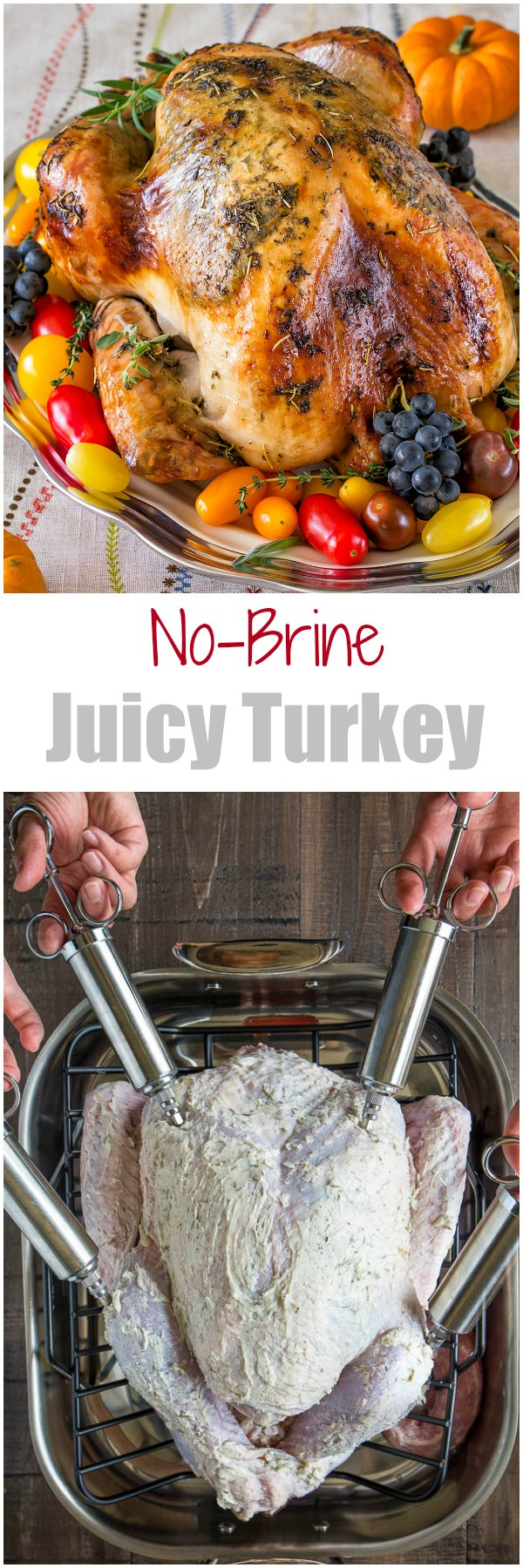 Sharing my secret to super juicy no brine roast turkey recipe that will make you a hero of your Thanksgiving dinner. It involves a bottle of champagne and melted butter! Seriously, unless you want to, you really don't have to brine your bird any more.#ThanksgivingRecipes #Thanksgiving #ThanksgivingTurkey #RoastTurkey #howtoroastawholeturkey #wholeturkey