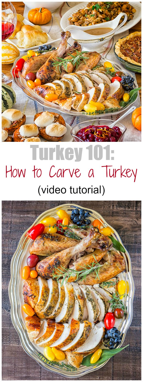 How to carve a whole turkey. #ThanksgivingTurkey #TurkeyRecipe #ThanksgivingMenu #ThanksgivingRecipes