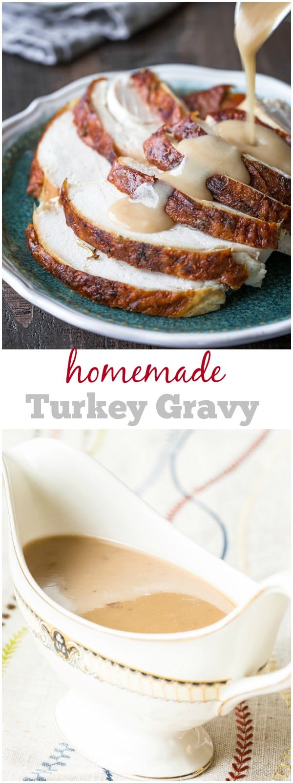 Easy, foolproof turkey gravy recipes with tips and tricks to success! #turkeygravy #ThanksgivingMenu #ThanksgivingRecipes #gravy #homemadegravy
