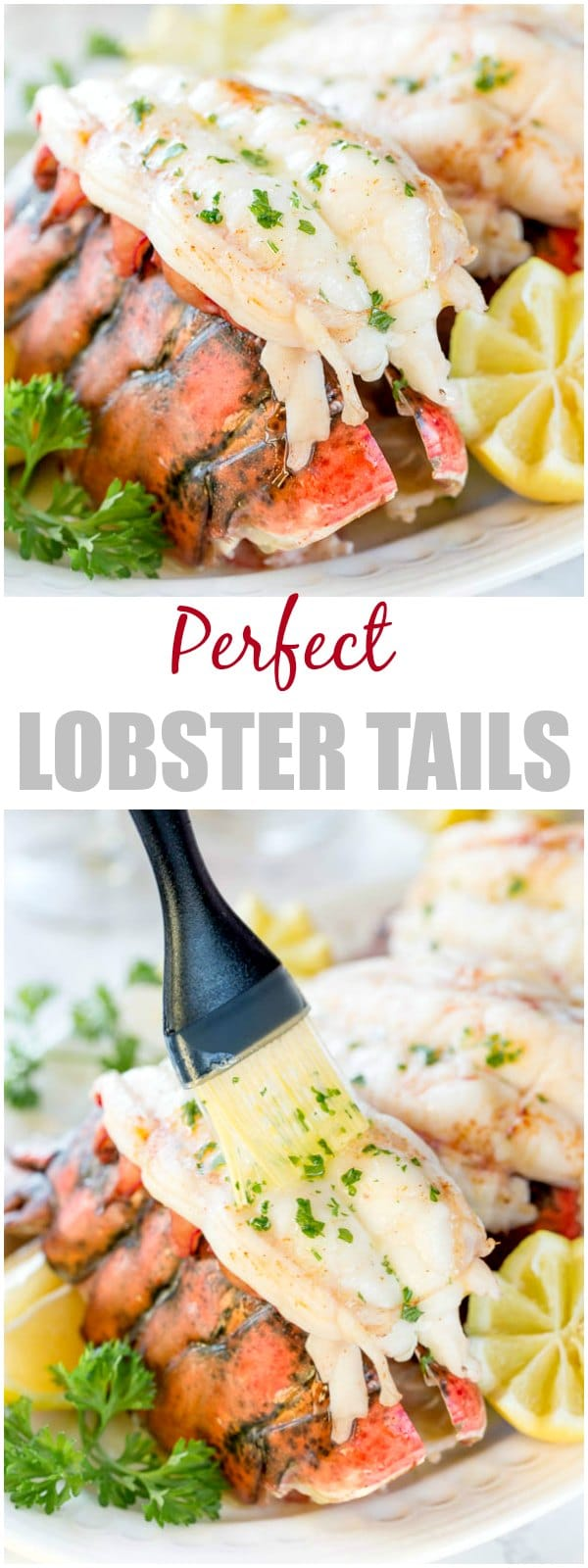 Baking these beautiful lobster tails in white wine brings out the succulent sweet flavors perfectly and yields melt-in-your-mouth tender meat every time. The easiest way to cook lobster tail! #lobstertails #bakedlobstertails