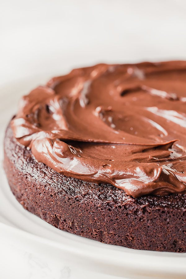 Rich chocolate enriched with espresso, this rich mocha frosting is silky smooth and compliments any chocolate cake or brownies!! One word: indulgent!!! #mochafrosting #chocolatefrosting #chocolatecoffeefrosting #frosting