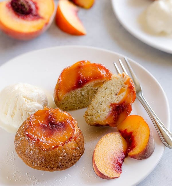 Peach Upside Down Mini Cakes