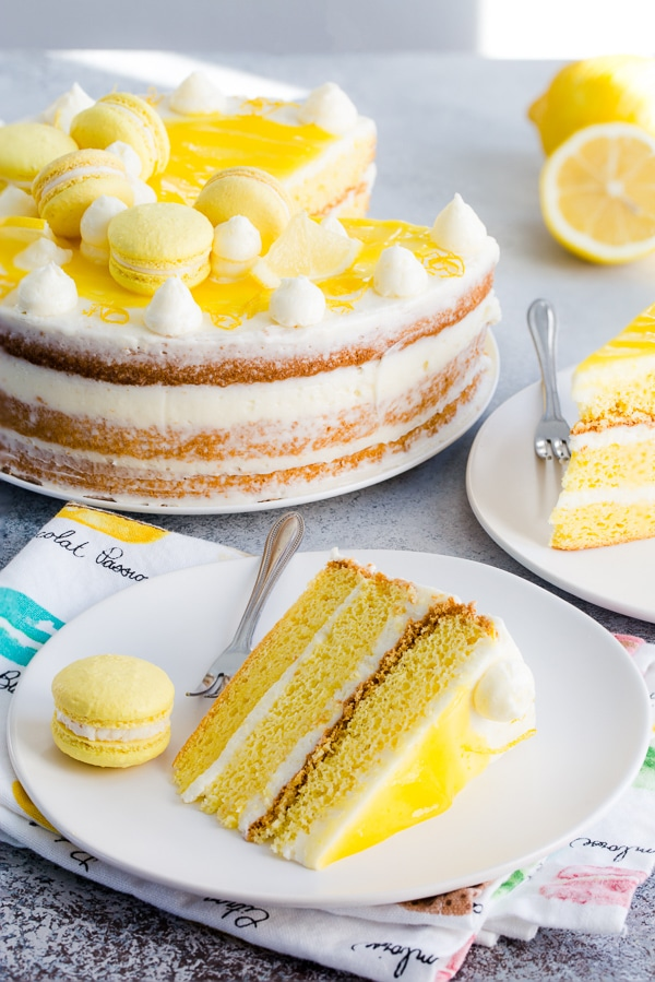This lemon layer cake is every citrus-lover's dream!!! Lots of layers, textures and irresistible burst of tangy lemon in every bite!