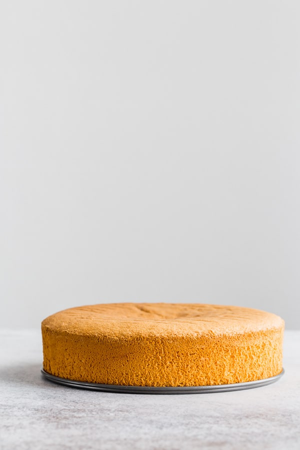 Let's learn how to make classic sponge cake. This light and airy sponge cake is a base to many delicious cakes! With just 3 ingredients, this cake is quick and easy to make, and very versatile to flavor and decorate. #spongecake #cake