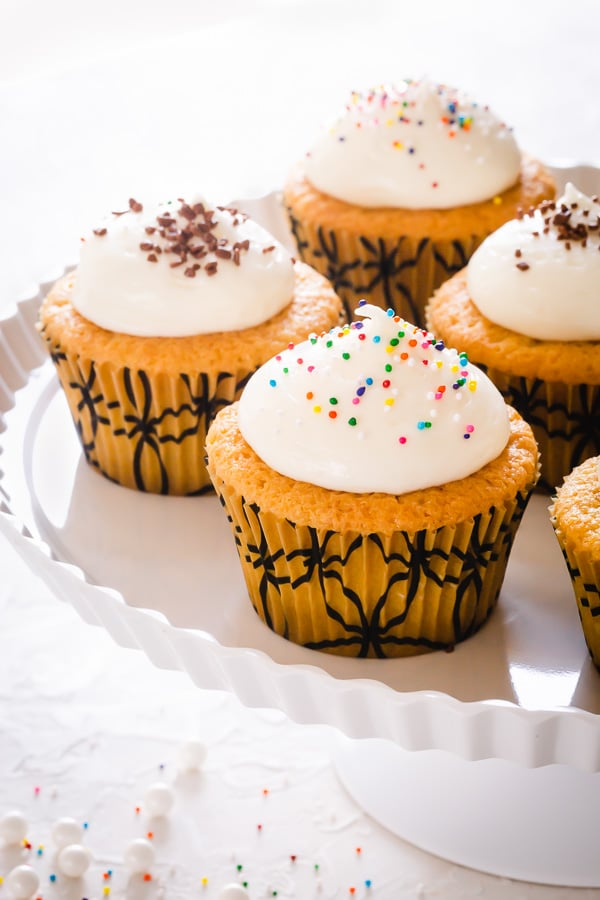 Forget about boxed mixes, this simple vanilla cupcakes are just as easy to make, yet 100% tastier, because baking from scratch always wins! If you have the right recipe and helpful tips, that is...