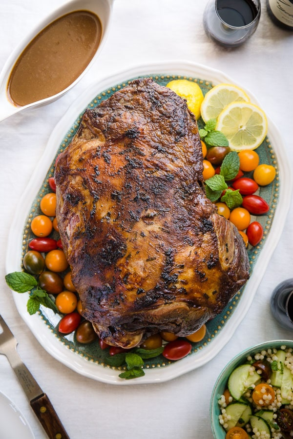 Roasting a whole leg of lamb may seem intimidating, but it shouldn't! It's quite simple to cook perfectly delicious and impressive roast leg of lamb. Let me walk you through the entire process, step by step. #legoflamb #lamb #lambroast