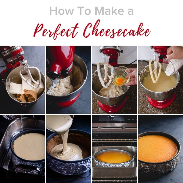 How to make a perfect cheesecake, step by step! Learn my 5 secrets to perfectly flawless cheesecake with no cracks! #cheesecake #cheesecaketips #bakingtips
