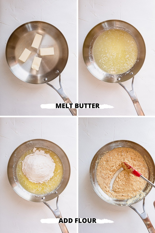 Knowing how to make a roux is one of the most useful kitchen skills you can learn! A roux is used as a base or thickening agent for many dishes like gravies, sauces and soups. #roux #howto #soupstarter