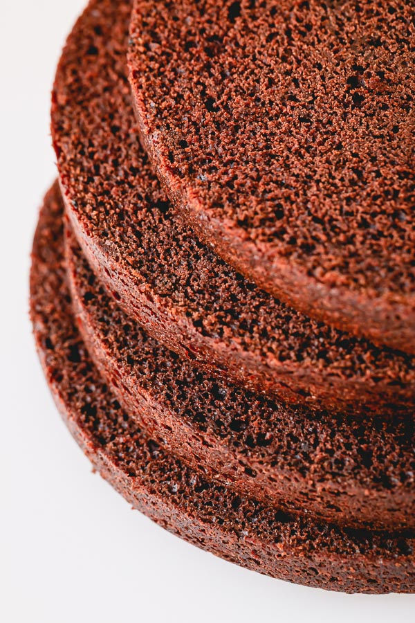 This best simple chocolate cake is light and airy, moist and tender, rich and chocolate-y. The secret ingredient ensures the perfect chocolate cake every time! #chocolatecake