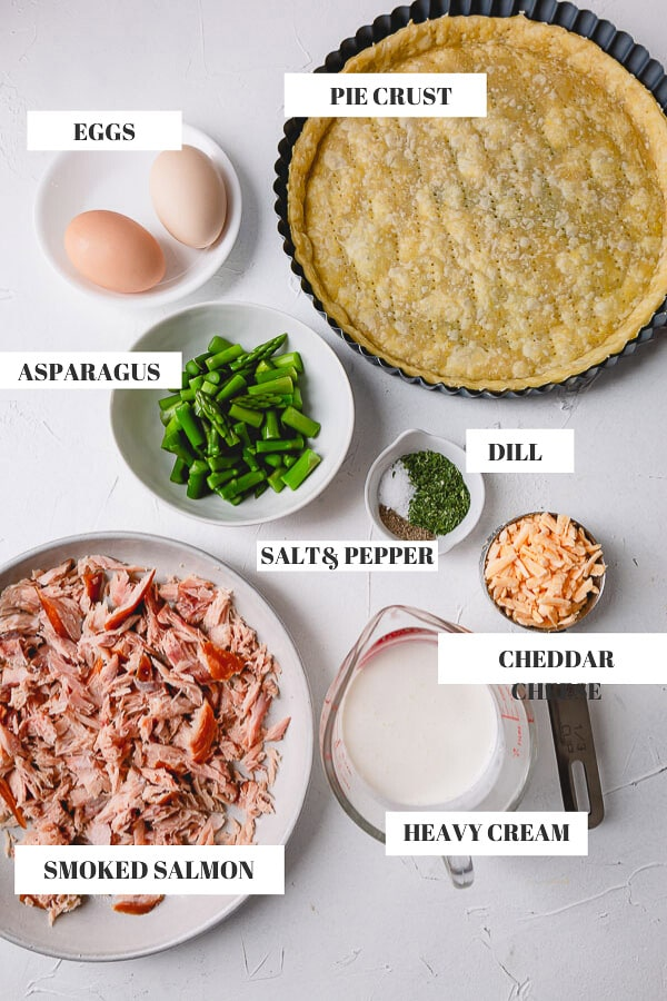 Smoked Salmon Quiche Ingredients