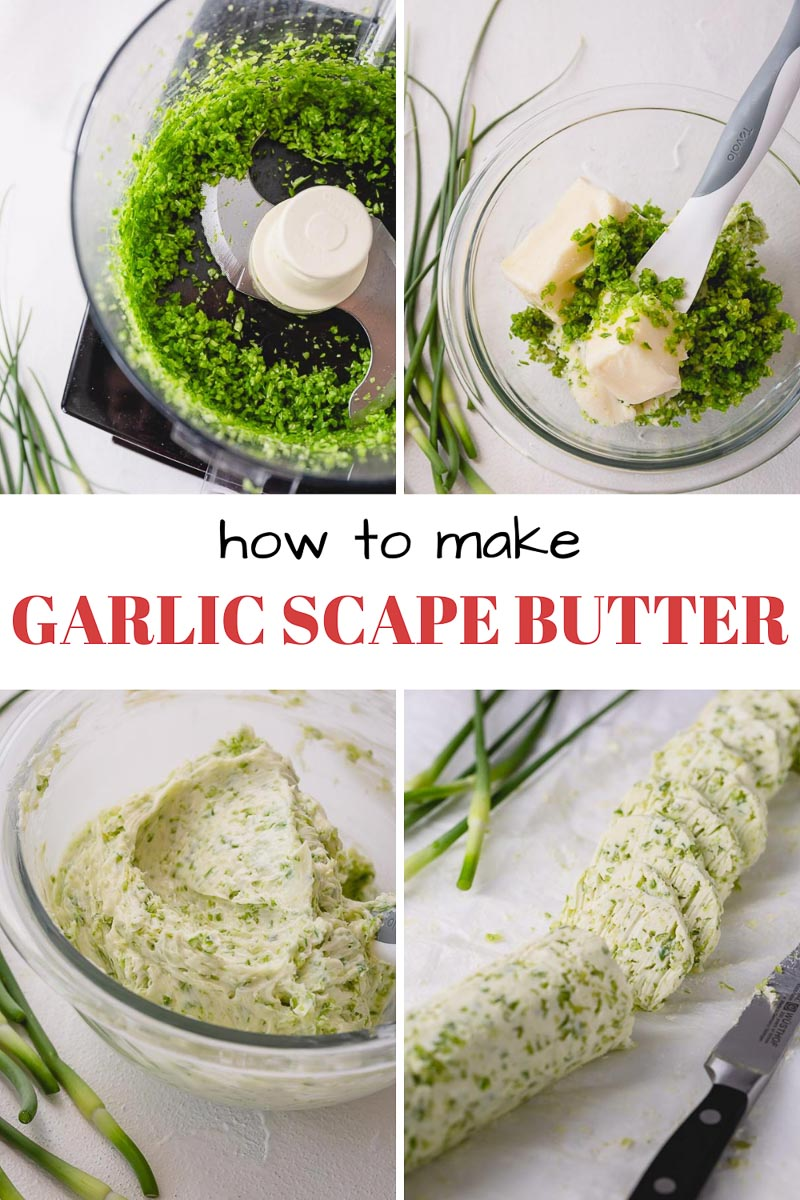 How to make garlic scapes butter and storing tips!
