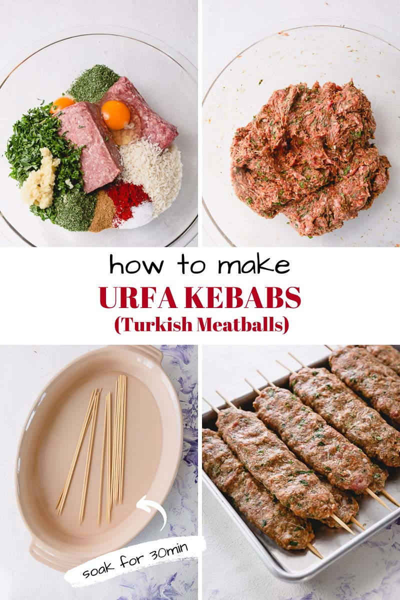 How to make Urfa kebabs, mild yet flavorful, juicy Turkish kebabs. #urfakebabs #turkishkebabs #kebabs #grillingrecipe