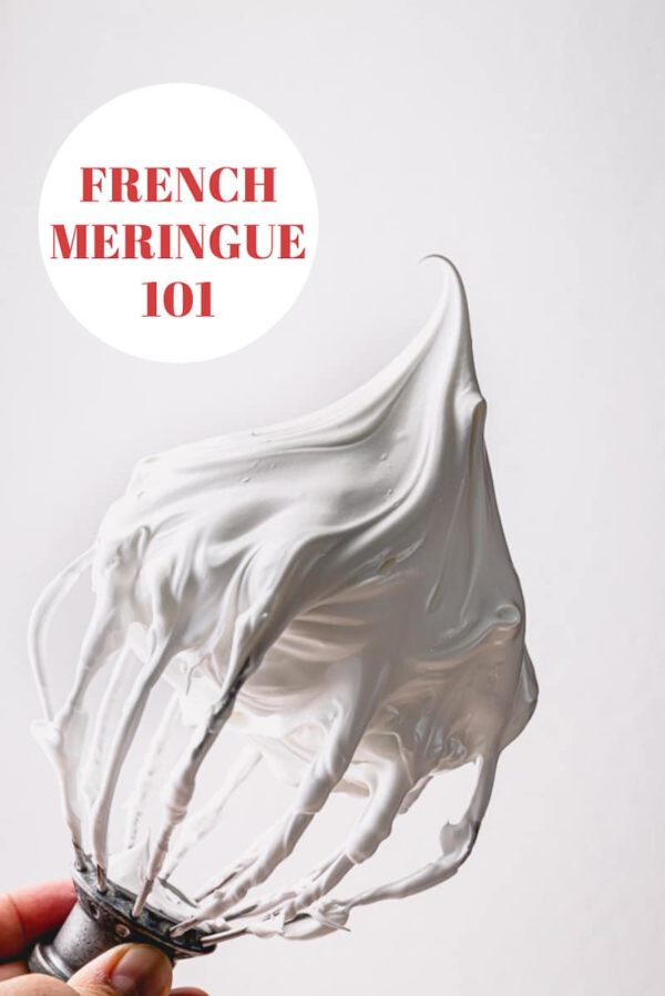Everything you need to know about making a meringue. Plus, 6 tips to achieve the most stable French meringue and visual cues for 3 stages of meringue. #meringue