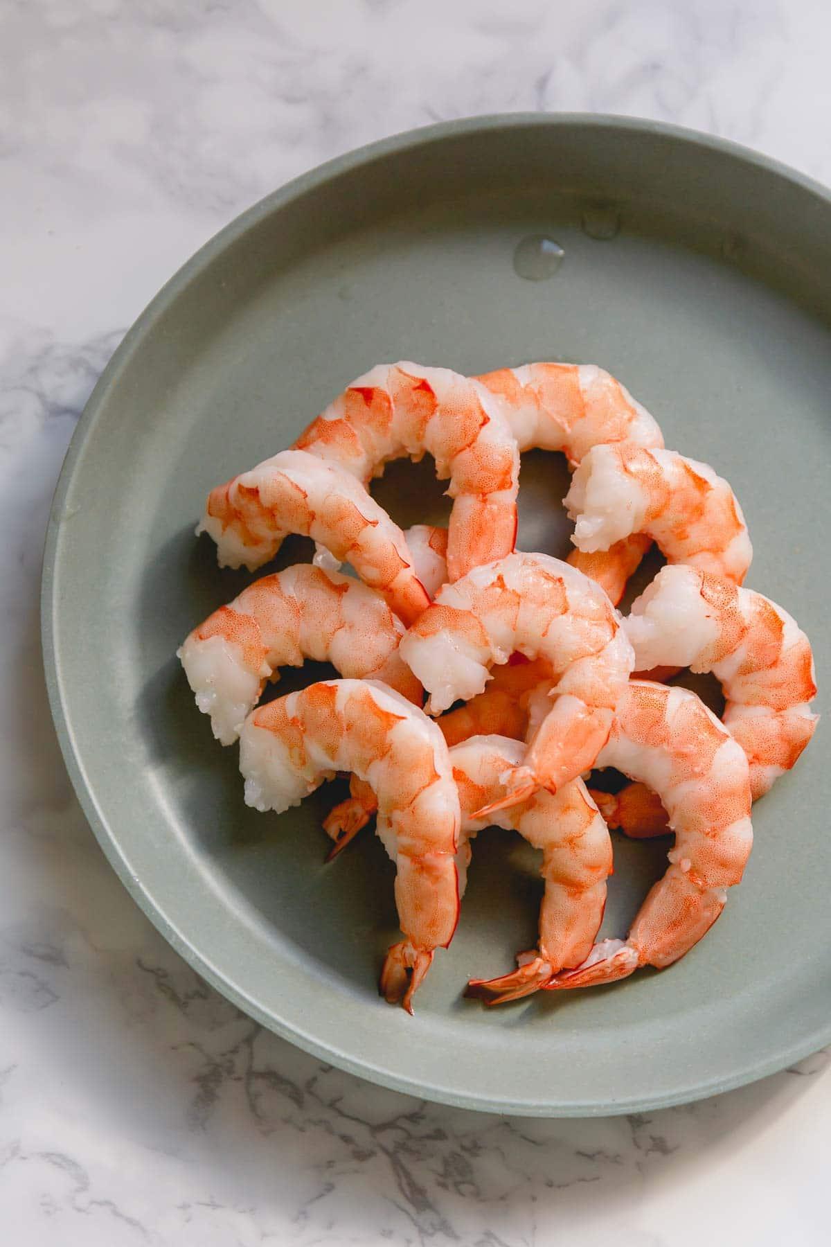 Boiled Shrimp on plate